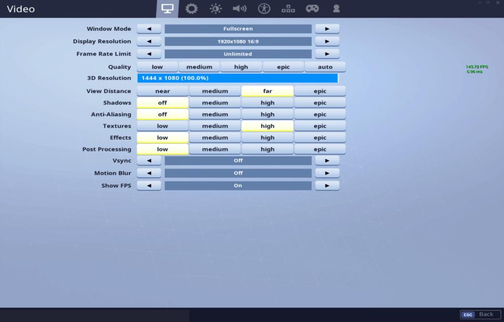 h1ghsky1 fortnite video settings - best colorblind mode fortnite