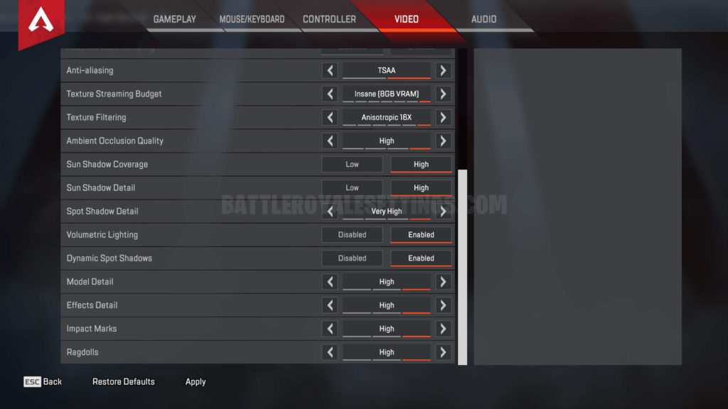 KingRichard Apex Legends Settings, Keybinds & Setup